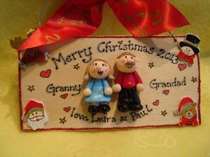Merry Christmas  Personalised 3d Seasonal Handmade Gift keepsake Family Sign Plaque 2 characters Any Year